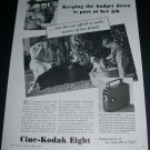 1936 Cine-Kodak Eight Family Movies Vintage 1930s Print Ad Publicite Advert Eastman Kodak