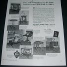 Vintage 1936 Imperial Furniture Company Grand Rapids MI Critical Eyes 1930s Print Ad Advert