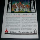 Vintage 1936 Sherwin-Williams Paints Beauty and Protection 1930s Print Ad Advert Cleveland OH