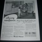 Vintage 1936 Monel Metal Whitehead Metal Products International Nickel Co 1930s Print Ad Advert
