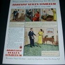 Vintage 1936 Congoleum Nairn Inc Kearny NJ Adhesive Sealex Linoleum 1930s Print Ad Publicite Advert