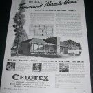 Vintage 1943 Celotex Corp Chicago Tomorrow's Miracle Home WW2 WWII War Bonds Print Ad Advert
