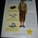 Vintage 1943 Armour and Company U.S. Army No Soldier Gets Better Care WW2 WWII Print Ad Advert
