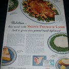 Vintage 1943 Swift & Company Swift Premium Lamb WW2 WWII U.S. Needs Us Strong 1940s Print Ad Advert
