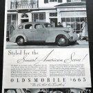 Vintage 1936 Oldsmobile General Motors GMAC American Scene Car Auto Automobile Ad Publicite Advert