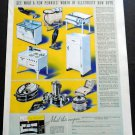 Vintage 1936 Westinghouse Electric & Manufacturing Co Mansfield Ohio OH 1930s Print Ad Advert