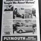 1936 Plymouth Chrysler Corp Auto Automobile Car 1930s Print Ad Publicite Advert Garza A Wooton