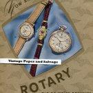 Vintage 1945 Rotary Watch Co Fils de Moise Dreyfuss Suisse Publicite Montres Swiss Print Ad Schweiz