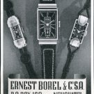 Vintage 1940 Ernest Borel & Co SA Watch Co Switzerland Swiss Print Ad Publicite Suisse Montres