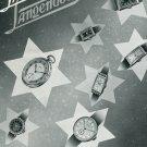 1940 Lanco Langendorf Watch Co Switzerland Swiss Print Ad Suisse Publicite Montres