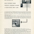 1956 Vulcain Cricket President Eisenhower Original Swiss Print Ad Publicite Suisse Vulcain Watch Co