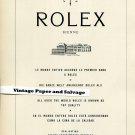 1958 Rolex Realisation 300 000 Chronometres Bracelet Suisse Publicite Montres Swiss Print Ad