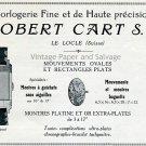 Robert Cart SA Original 1931 Swiss Print Ad Publicite Suisse Montres Switzerland 1930s Schweiz