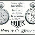 Original 1931 Heuer Watch Co Swiss Print Ad Publicite Suisse Montres Ed Heuer & Co