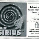 Vintage 1931 Fabrique Suisse de Ressorts d'Horlogerie S.A. Peseaux Swiss Print Ad Publicite Schweiz