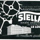 Vintage 1931 Assortiments Stella SA Le Locle Switzerland Swiss Print Ad Publicite Suisse Horlogerie