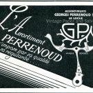 Vintage 1931 Assortiments Georges Perrenous SA Switzerland Swiss Ad Publicite Suisse Horlogerie