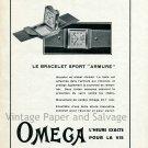 Original 1931 Omega L'Heuer Exacte Pour La Vie 1930s Swiss Print Ad Publicite Suisse Montres