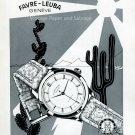 Vintage 1952 Favre-Leuba Watch Company Montre des Tropiques Swiss Print Ad Publicite Suisse