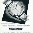 1945 Omega Watch Company Switzerland Une Importante Nouvelle Swiss Ad Publicite Suisse Montres