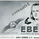 1945 Ebel Watch Company Switzerland Montres de Qualite Swiss Print Ad Publicite Suisse Schweiz