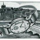 1945 Baume et Mercier Watch Company Geneve Vintage 1940s Swiss Advert Publicite Suisse Montres