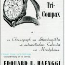 Vintage 1945 Universal Geneve Tri-Compax Watch Advert Publicite Suisse Montres Swiss Print Ad