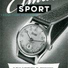 Vintage 1945 Elmas Sport Watch Advert Publicite Suisse Montres Swiss Print Ad Schweiz Switzerland