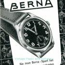 1945 Berna Watch Company Switzerland Vintage 1940s Swiss Print Ad Publicite Suisse Montres Schweiz