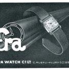 Vintage 1947 Era Watch Company C Ruefli-Flury & Co 1940s Swiss Advert Publicite Suisse Montres