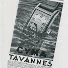 1939 Cyma Tavannes Watch Company Original 1930s Swiss Advert Publicite Suisse Montres