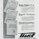 1939 Tissot Watch Company Switzerland Original 1930s Swiss Advert Publicite Suisse Montres