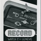 Vintage 1939 Record Watch Company Geneve Switzerland Swiss Advert Publicite Suisse Montres