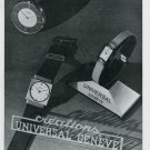 1939 Universal Watch Company Geneve Perret & Berthoud SA Swiss Advert Publicite Suisse Montres