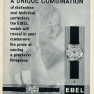 1959 Ebel Watch Company La Chaux-de-Fonds Switzerland Swiss Advert Publicite Suisse Montres