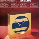Angelus SA Clock Company Le Locle Switzerland 1974 Swiss Magazine Ad Advert Publicite Suisse