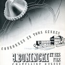 1942 J Boninchi et Ses Fils Geneve Suisse Publicite Vintage Swiss Advert Horlogerie Horology