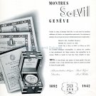 1942 Montres Solvil 50th Anniversary Vintage Swiss Advert Publicite Suisse Solvil Titus Watch Co