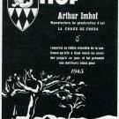 Vintage 1945 Arthur Imhof Pendulettes d'Art CH Switzerland Swiss Print Ad Publicite Suisse