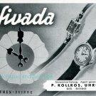 Vintage 1945 Nivada CH Watch Co Grenchen Switzerland Swiss Advert Publicite Suisse Montres Schweiz