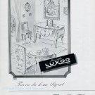 Vintage 1945 Pendulettes Luxor CH Switzerland 1940s Swiss Advert Publicite Suisse Schweiz