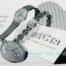 Vintage 1945 Recta CH Watch Co Bienne Switzerland Swiss Advert Publicite Suisse Montres
