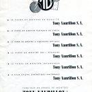 Vintage 1942 Tony Vaurillon S.A. Le Verre de Montre Swiss Advert Publicite Suisse CH Schweiz