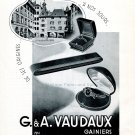 Vintage 1942 G & A Vaudaux CH Gainiers Geneve Swiss Advert Publicite Suisse Schweiz Switzerland
