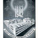 Vintage 1942 Société d'Instruments de Physique Genève SIP CH Swiss Advert Publicite Suisse