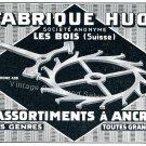 Vintage 1942 Fabrique Huot SA Assortiments a Ancre Swiss Advert Publicite Suisse CH