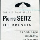 Vintage 1942 Pierre Seitz Les Brenets CH Switzerland Swiss Advert Publicite Suisse Horlogerie