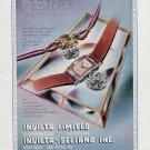 Vintage 1948 Invicta Watch Co Switzerland Swiss Advert Publicite Suisse Schweiz