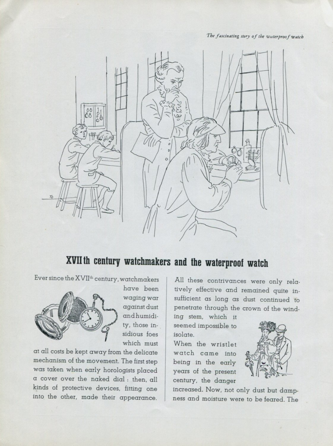1948 Rolex Watch Co Fascinating Story of the Waterproof Watch Vintage 1940s Swiss Print Ad