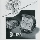 Vintage 1948 Swiza Desk Clock Ad Swiss Advert Publicite Suisse Schweiz CH